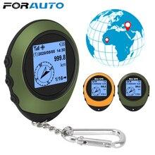 جهاز تحديد مواقع GPS على الأقمار الصناعية بوصلة صغيرة مزودة بإبزيم للرياضات الخارجية والمشي لمسافات طويلة