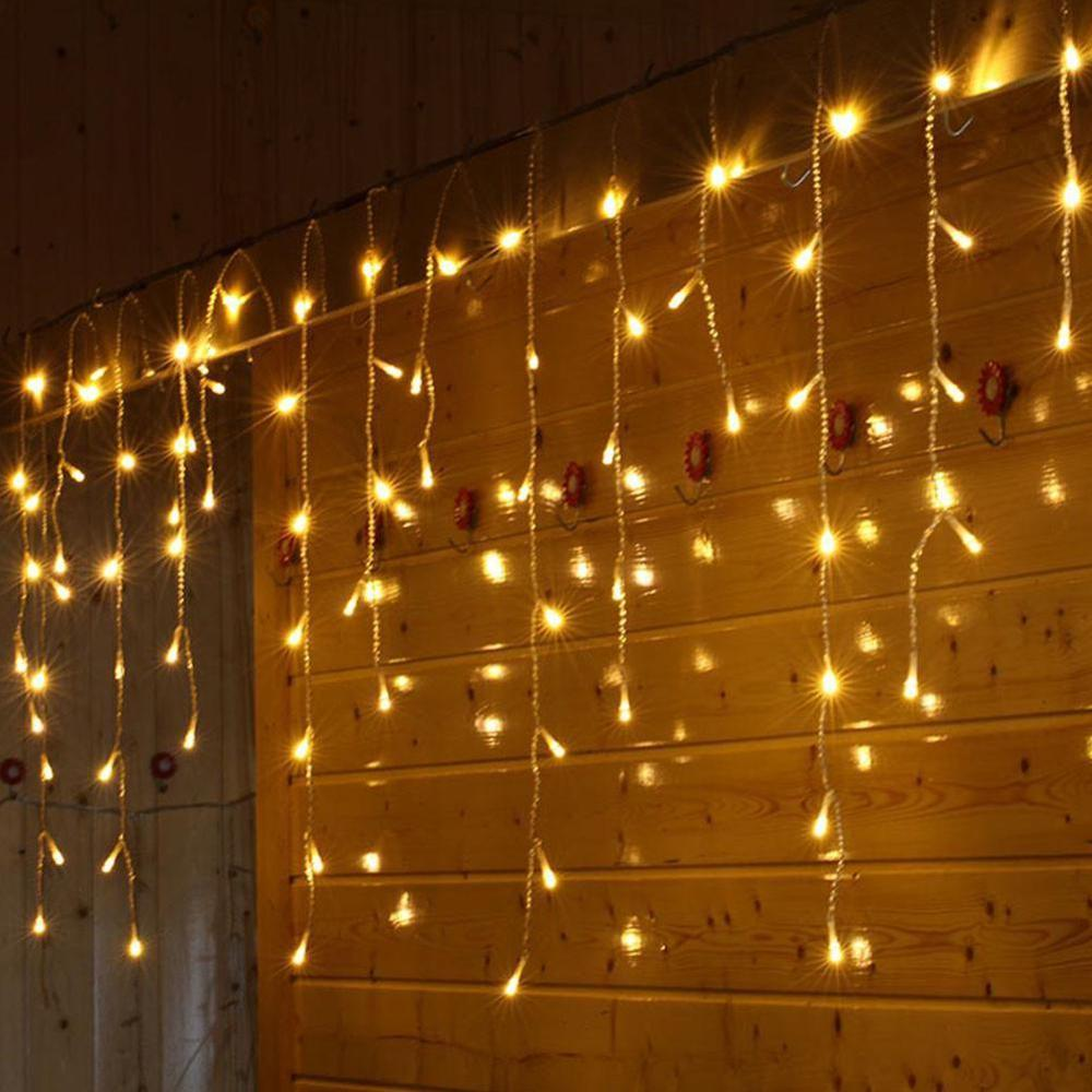 Christmas Garland LED Curtain Icicle String Lights 10m 100 Leds Indoor Drop Party Garden Stage Outdoor Decorative Fairy Light