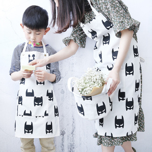 Image 5 - Nordic Style Apron Christmas Tree Deer Printing Brief Adult Apron with Big Pocket Kitchen Baking Cooking Accessories Bib Aprons
