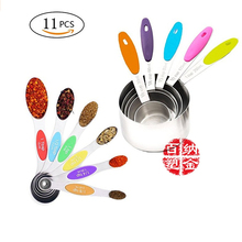 gooi stainless steel ts 10 11 15 straight and angled tweezerses 3 piece set 11-piece measuring cup measuring spoon set, stainless steel measuring cup spoon for roasting tea and coffee kitchen measuring to
