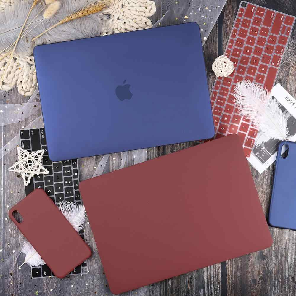 "Baru Warna Case untuk MACBOOK AIR 13 Touch ID A1932 Retina Pro 13 15 ""Touch Bar A2159 A1989 A1990 a1708 + Keyboard Cover"