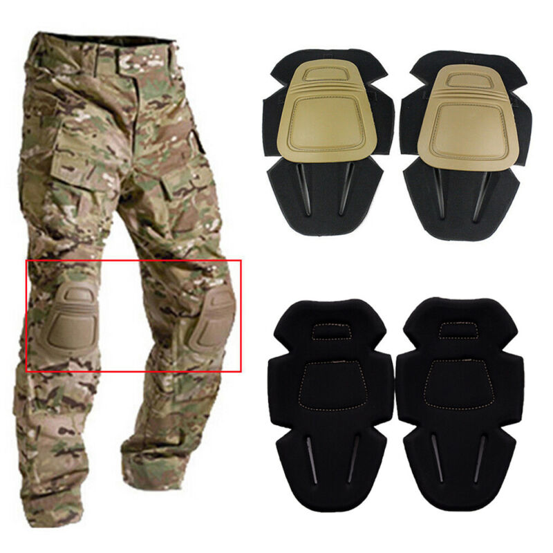 2pcs Knee Pads Military Trousers Mountaineering Knee Brace Support Protector Sports Safety Basketball Knee Pads Men Knee Sleeve