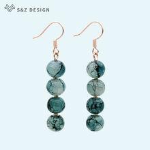 S & z Оригинальные Модные круглые цветные стеклянные бусины