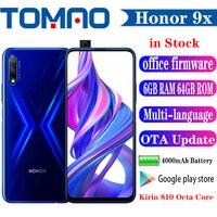 Honor-Teléfono Móvil Inteligente 9X, SmartPhone con pantalla completa de 810
