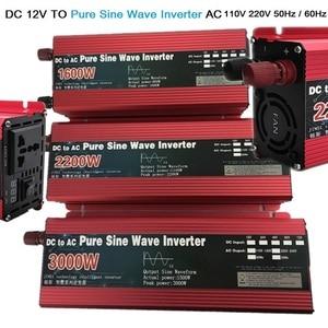 Pure Sine Wave inverter 12V/24V to AC 110V 220V 1600W/2200W/3000W Voltage transformer Power Converter solar inverter LED display