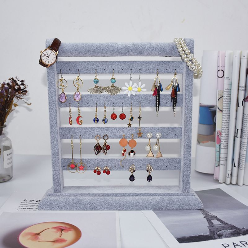 Earring Holder Jewelry Organizer Necklace Hanger Wall Stand Rack Classic Display