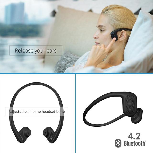 Tayogo pływanie słuchawki zauszne odtwarzacz Mp3 z aplikacją FM Bluetooth krokomierz IPX8 wodoodporny odtwarzacz muzyczny 8GB dla sportu