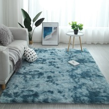 Gradient Solid Carpet Thick Rugs Non-slip Mat Bathroom Area rug for Living Room Soft Fluffy Child Bedroom Mats Carpets alfombra