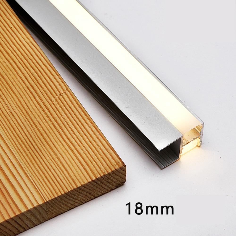 Double Shelf LED Light For Under Cabinet Lights Edge Back Side Light 30/40/50CM Clip Clamp Lamp Showcase Lamps Liquor Shelf