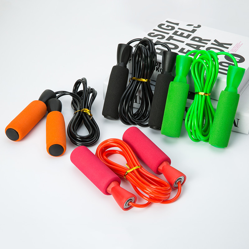 Hot Sales Jump Rope Sponge Handle Students Examination Exclusive Bearing Jump Rope Manufacturers Direct Selling Special Offer Gi