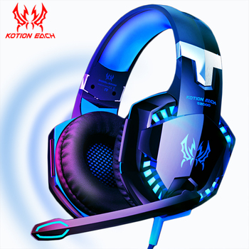 Game Headphones Gaming Headsets Bass Stereo Over-Head Earphone Casque PC Laptop Microphone Wired Headset For Computer PS4 Xbox 1