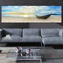 Абстрактные Художественные плакаты и принты морской пейзаж холст