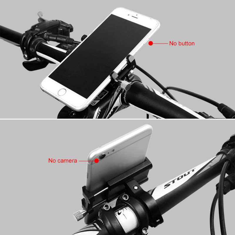 "Image 3 - 2019 New Aluminium Alloy Bike Phone Holder 3.5 6.5"" Cell Phone GPS Holder Bicycle Phone Support Cycling Bracket Mount bike rack-in Bicycle Rack from Sports & Entertainment"