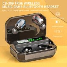 Fone de ouvido sem fio sem fio esporte fone de ouvido fones tws controle toque bluetooth 5.0