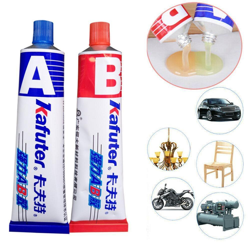 2pcs Strong Adhesive Gel Industrial Heat Resistance Cold Weld Metal Repair Paste A&B Adhesive Gel 70g
