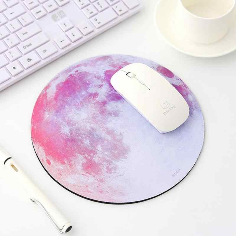 Tapis de souris de jeu ordinateur portable tapis de souris PC tapis de bureau Style terre/lune noire