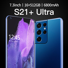 S21+Uitra 7.3 Inch Global Version Smartphone 16G +512G ROM 6800mAh Large Battery Android Full Display Dual SIM 4G/5G Call Phone