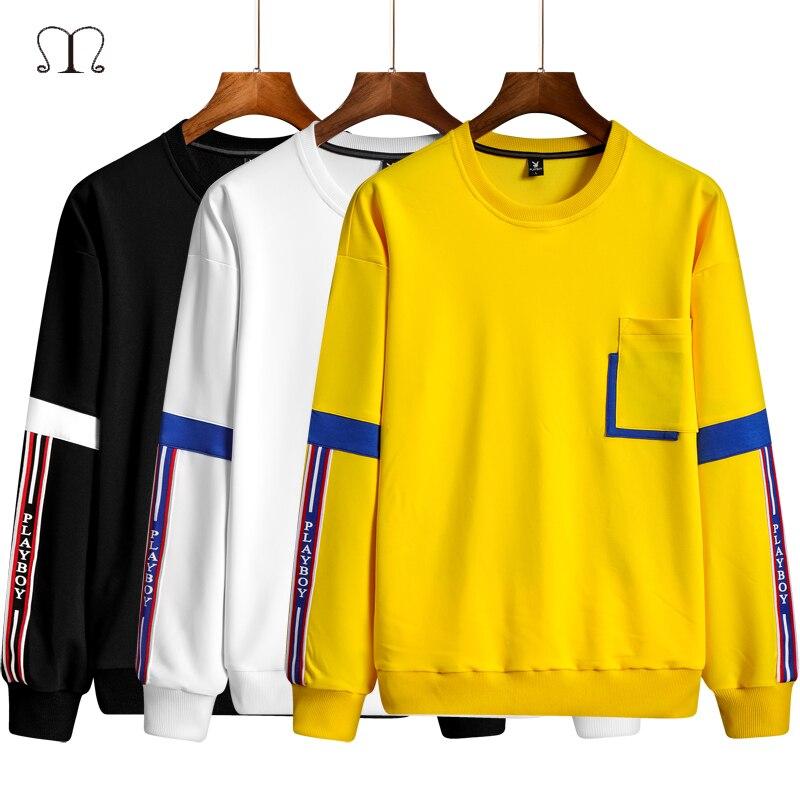 2020 Brand Hoodie Men Streetwear Hip Hop White Black Striped Hoody Mens Hoodies Sweatshirts Harajuku Tops 3XL4XL Freddie Mercury