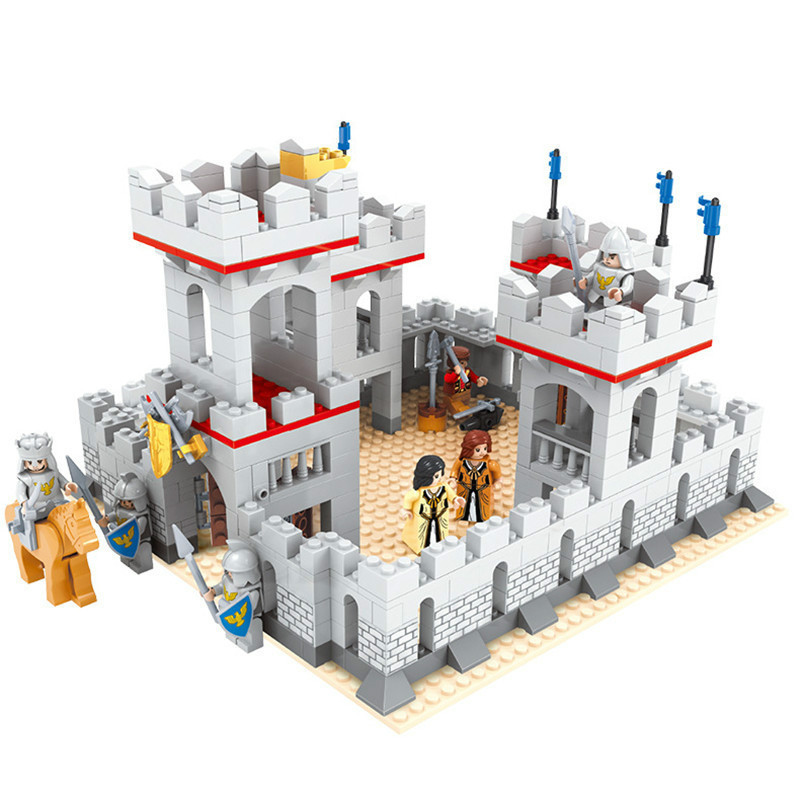 Model building kits city castle 686 pcs 3D blocks model building toys hobbies for children DIY bricks educational 27906