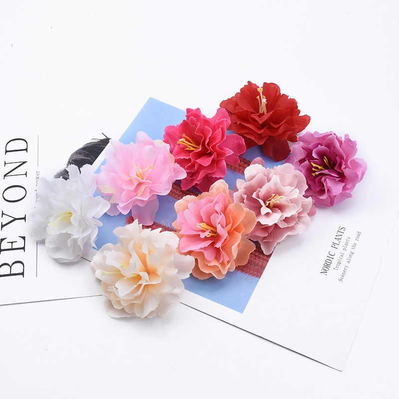 2/5/20 stuks Meeldraden Pioen head wedding decoratieve bloemen muur scrapbooking kerst decoraties voor huis kunstbloemen