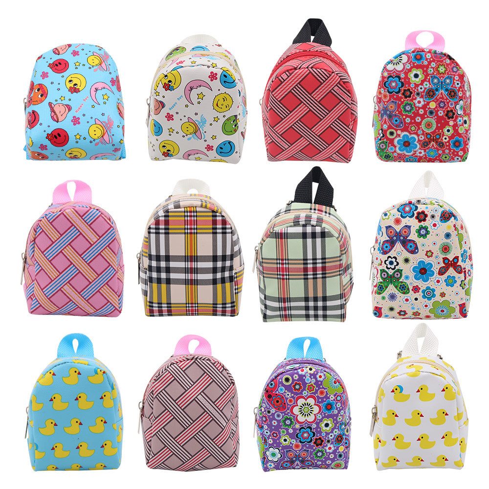 Dolls Accessories Bags For 18 Inch American Girl Backpack BJD Doll Color Cartoon Bag Accessories Toys