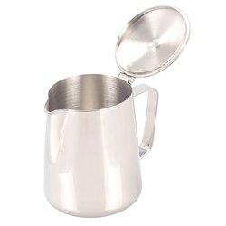 Stal nierdzewna Pull Flower Espresso spieniacze spienianie Garland Cup dzbanek do mleka o dużej pojemności dzbanek do kawy używany przez kuchenka indukcyjna