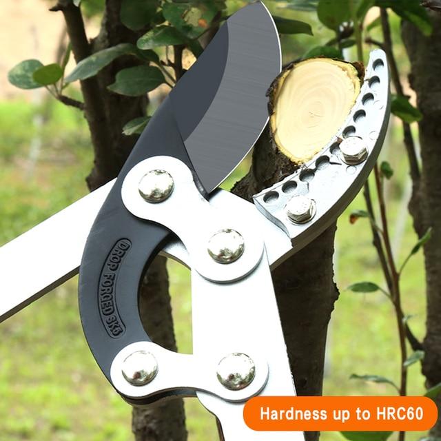 AI-ROAD New Telescopic Long Length Scissor Hedge Anvil Shear Anti-Slip Garden Pruning Hand Tool Ratchet Cut Tree Branch Pruners 6