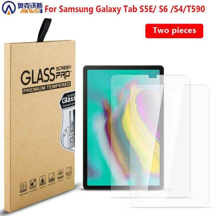 9H الزجاج المقسى واقي للشاشة حالة فيلم ل samsung galaxy تبويب S6 10.5 2019 S4 S5E T720 T860 T835 T590 المقسى الحرس 2 قطعة