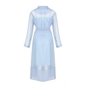 Image 5 - Twotwinstyleボイルレースアップウインドブレーカードレス女性長袖羽ポケットセクシーなパーティードレス女性のエレガントな服2020