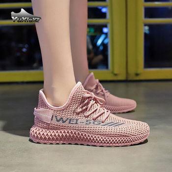 Oddychające siatkowe buty damskie dopasowane buty do biegania dla studentów siatkowe trampki skarpetki damskie buty damskie trampki 2020 tanie i dobre opinie yuxiaxz Mesh (air mesh) CN (pochodzenie) Płytkie Mieszane kolory latex Niska (1 cm-3 cm) Lace-up Pasuje prawda na wymiar weź swój normalny rozmiar