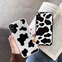 Black White Cow Case For Samsung Galaxy S8 S9plus S10 S20 Note 20 Ultra 10 Lite Plus A21S A50 A71 A51 A70 A21 S A31 A41 A10 Case(China)