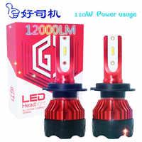 2 uds entrega gratuita Haosj H7 Bombilla LED H4 LED de la Linterna del Coche 12V 12V 12000lm H11 LED H3 HB3 9005 HB4 9006 H1 LED H8