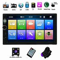 "Double Din Car Stereo Autoradio MP5 Car Radio 7"" HD Multimedia Player Touch Screen Auto Audio Car Stereo Bluetooth FM Android"