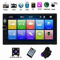 "Estéreo de coche de doble DIN Autoradio MP5 Radio de coche 7 ""HD reproductor Multimedia pantalla táctil Auto Audio coche estéreo Bluetooth FM Android"