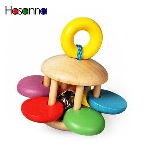 Image 2 - Holz Baby Rasseln Erfassen Spielen Spiel Zahnen Säuglings Frühen Musical Pädagogisches Spielzeug für Kinder Neugeborenen 0 12 monate Geschenk