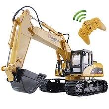 RC 트럭 굴삭기 크롤러 15CH 2.4G 원격 제어 파는 데모 건설 엔지니어링 차량 모델 전자 취미 완구