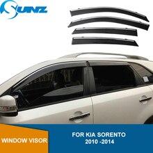 Side Window Deflectors For KIA SORENTO 2010 2011 2012 2013 2014 Smoke Rain Guard Wind shields Wind Deflectors SUNZ