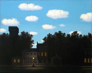 Шелковые постеры Rene Magritte impire of light2, HD изображение, домашний декор, 12x18, 24x36 дюймов