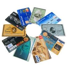 NEW bank Card USB Flash Drive visa cards pen drive 2.0 4GB 8GB 16GB 32GB 64GB USB Credit card Memoria Stick pendrive custom logo