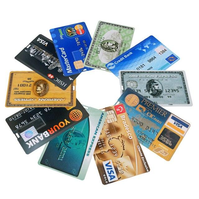 חדש בנק כרטיס USB דיסק און קי ויזה כרטיסי עט כונן 2.0 4gb 8gb 16gb 32gb 64gb USB אשראי כרטיס Memoria מקל pendrive לוגו מותאם אישית