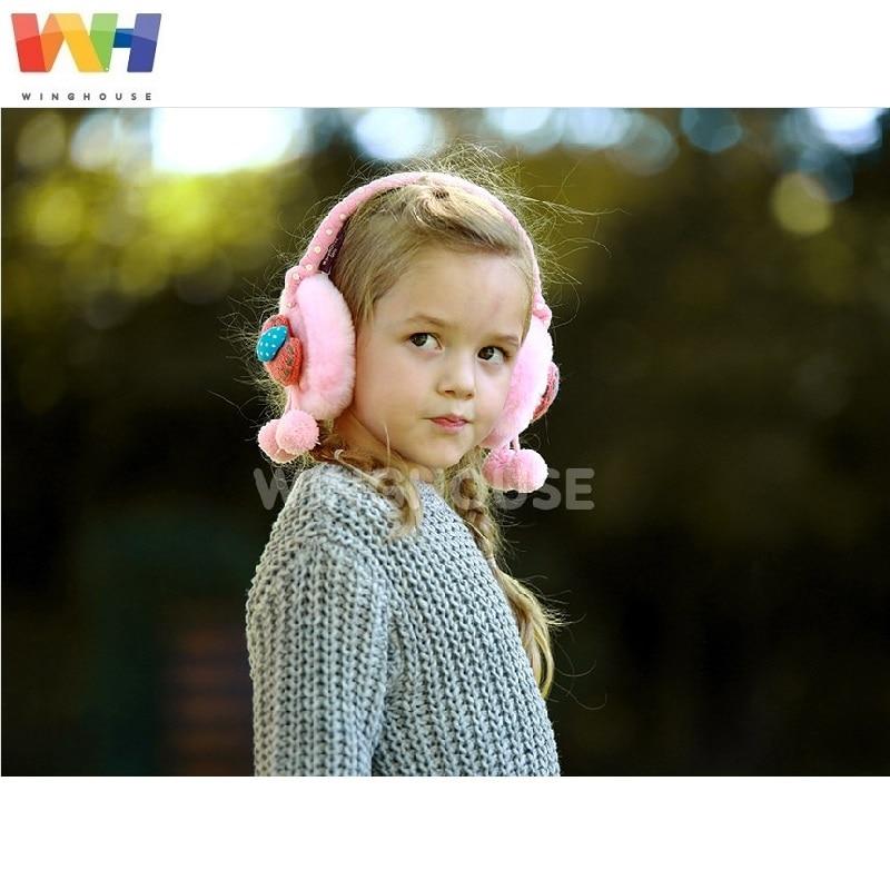 South Korea Winghouse Children Earmuffs Cartoon Bird Cute Girl Earbag Plush Winter Warm Windproof Earplugs Kid Winter Headphones