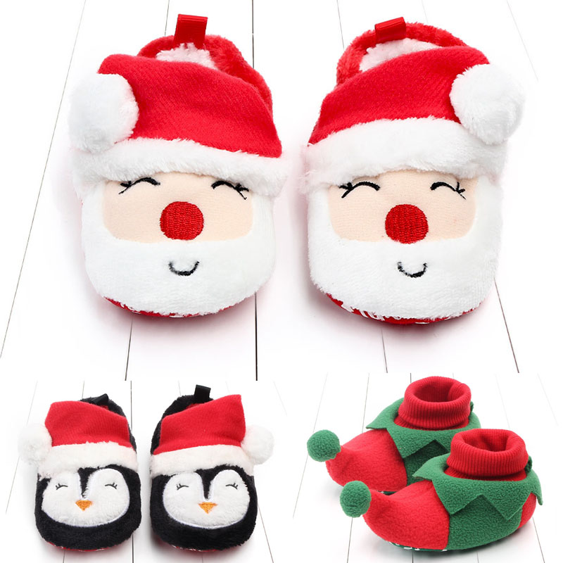 Autumn And Winter Warm Baby Girls Boys Toddler First Walkers Baby Shoes Soft Slippers Shoes Winter Non-Slip Baby Christmas Gift