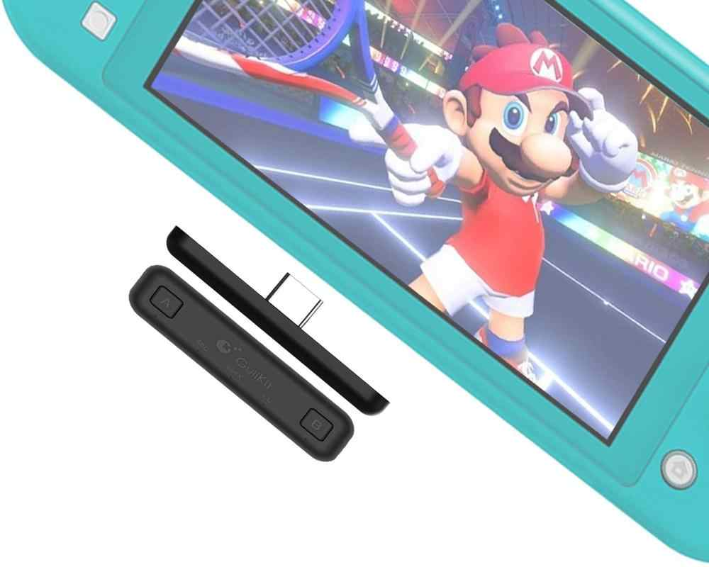 Rute Udara Switch Adaptor Bluetooth Wireless Audio Transmitter W/Apt X Rendah Latensi Kompatibel untuk Nintendo Switch & Switch Lite