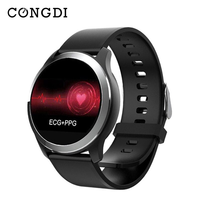 Congdi Z03 ЭКГ PPG умные часы для мужчин кровяное давление монитор сердечного ритма сарт часы Шагомер Smartwatch для пожилых людей IOS Android