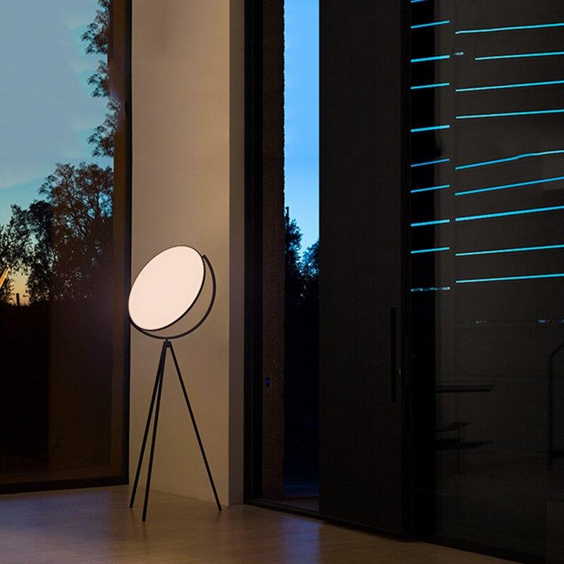 luminaria de chao moderna criativa preta nordica 04