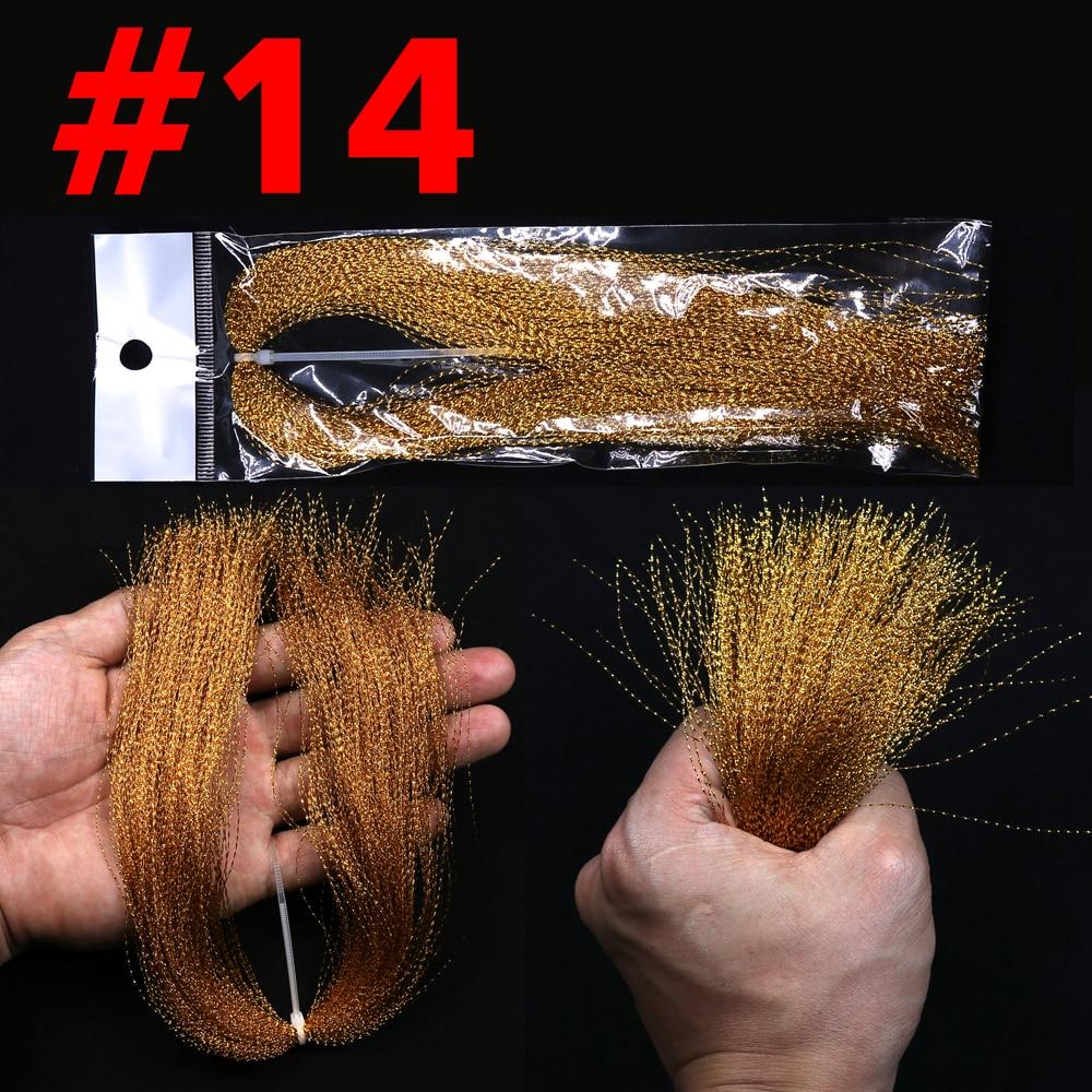 100paks isca de pesca jigging cristal flashabou