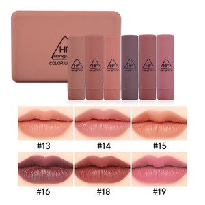 Image 2 - Kabak renk mat uzun ömürlü ruj seti su geçirmez çıplak Batom dudak seti ayna dudaklar makyaj marka HengFang güzellik hediye
