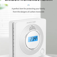 Newest LED Digital Gas Smoke Alarm Co Carbon Monoxide Detector Voice Warn Sensor Home