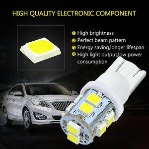 Image 5 - Safego 10 pçs w5w t10 194 168 led carro afastamento cunha bulbos 10 smd 1210 3528 interior do carro lâmpada luz da cauda branco 6000k dc 12v
