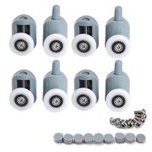 Stainless Steel Wheels Shower Stainless Nylon Rollers Lower Bathroom Accessories Door Steel for Glass shower door castor